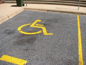 Picture of workers compensation numbers disabled parking place
