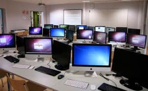 Picture of computer laboratory workers' comp program fixes software technology