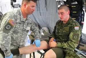Injured Army Claim Number on knee