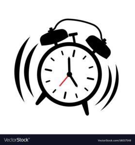 vector alarm clock ringing premium audit dispute delay