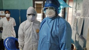 Frontliners of COVID-19 Vaccination Claims wearing PPE