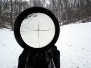rifle scope WCIRB USRP Manual Update in the ice forest