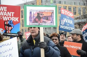 Furloughed workers comp premium auditor's job rally