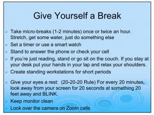 Slide From Home Ergonomics Advice