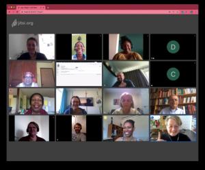 screenshot of Zoom hybrid premium audit meeting